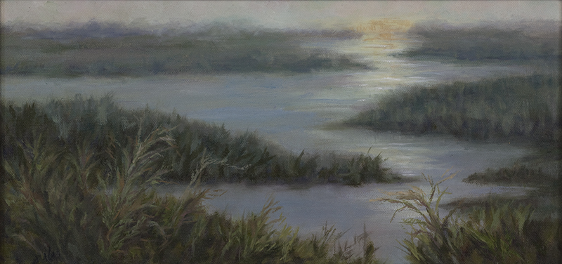 Sara Ward Art. Low Country Sunset.